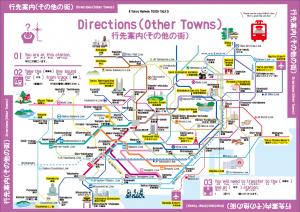 東急線おもてなしボード行き先案内