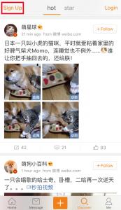Weiboの登録方法2